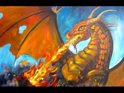 how to draw a dragon breathing fire youtube