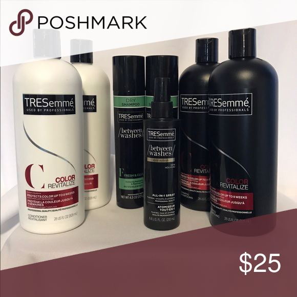 Tresemme Bundle Tresemme Color Revitalize 2 Shampoo 28 Fl Oz 2 Conditioner 38 Fl Oz 2 Tresemee Between Washes Dry S Tresemme Shampoo Dry Shampoo