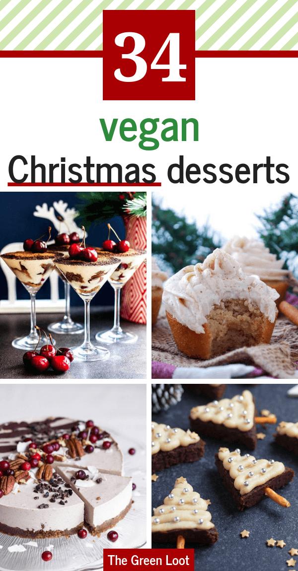 The Best 34 Vegan Christmas Desserts & Treats (Egg-free, Dairy-free) -   17 desserts Vegan noel ideas