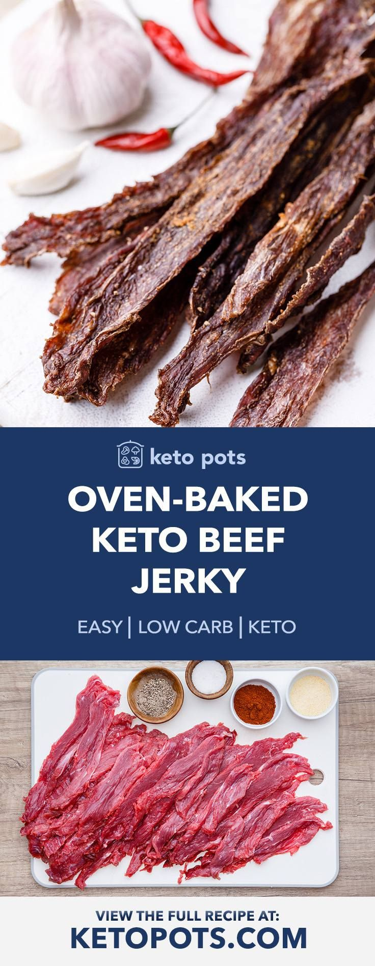 Oven-Baked Low Carb Keto Beef Jerky for High Protein ...