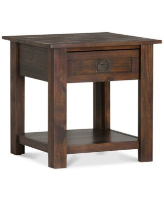 Simpli Home Oswen End Table Reviews Furniture Macy S Furniture End Tables Wood End Tables