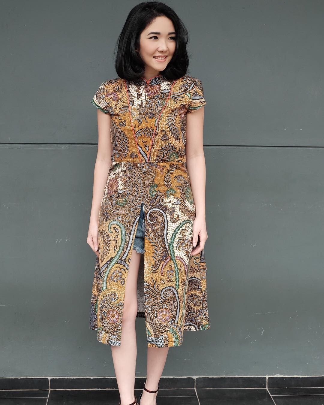 My New Batik Dress From @vofcouture .. I Love It! Go Grab