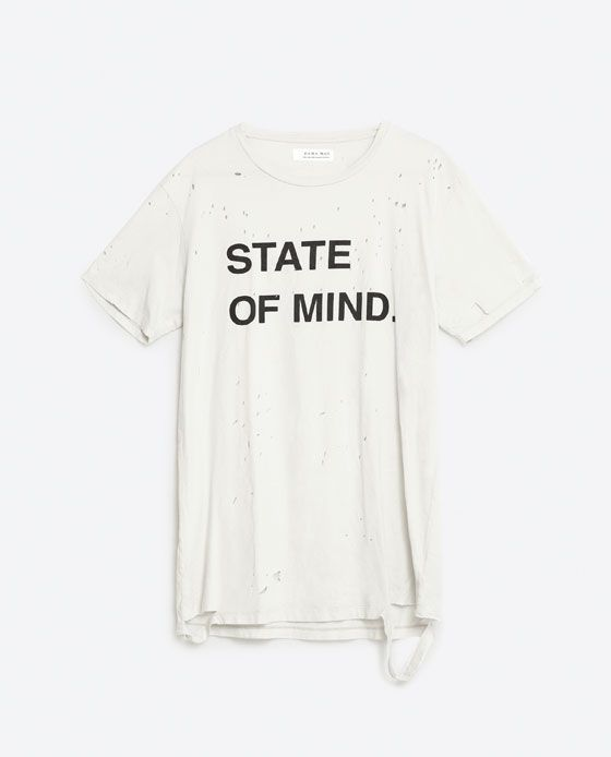 46c6b1ea37692 Image 6 of RIPPED T-SHIRT from Zara