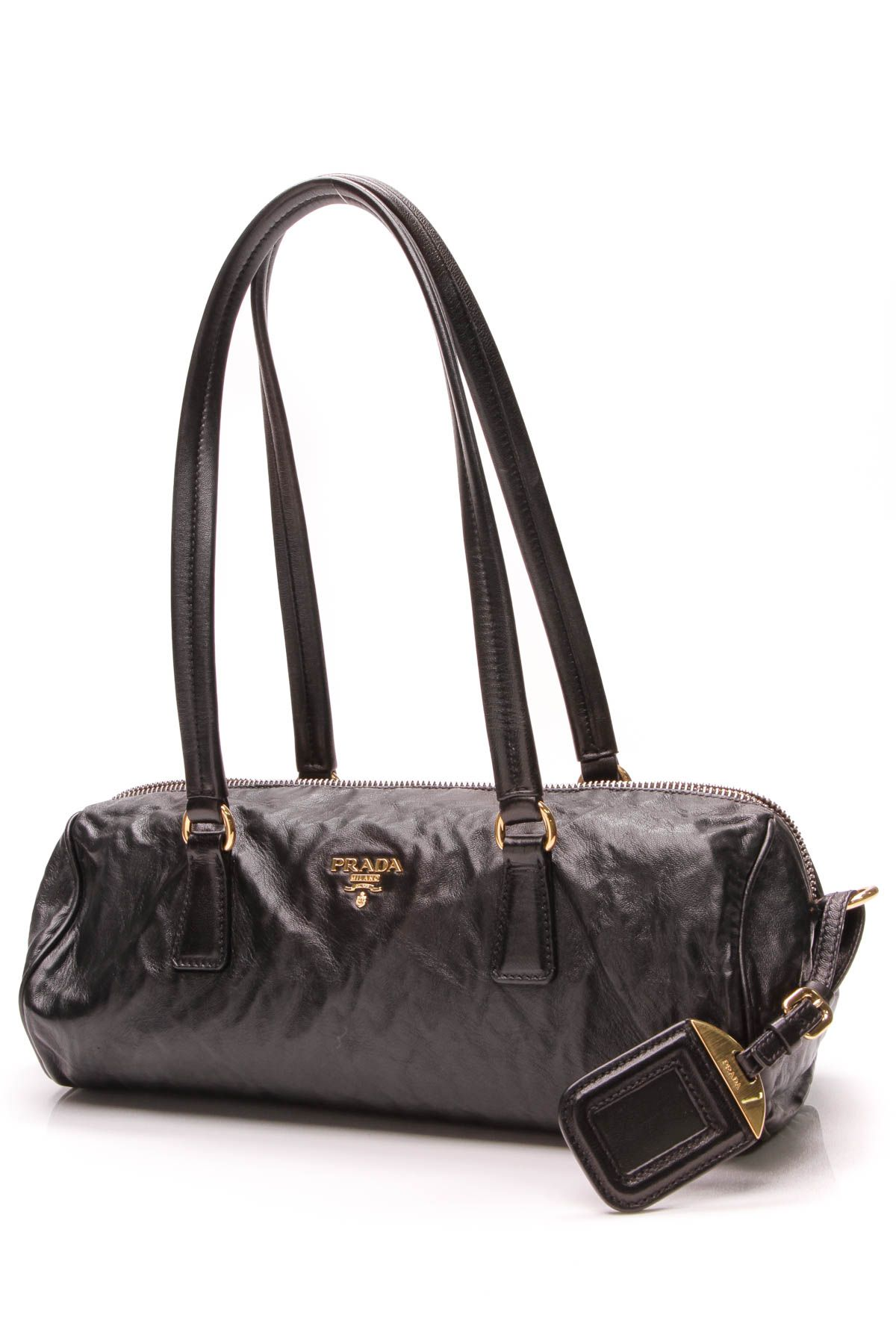 62305f21bbb5 Bauletto Bag - Black Nappa Leather in 2019