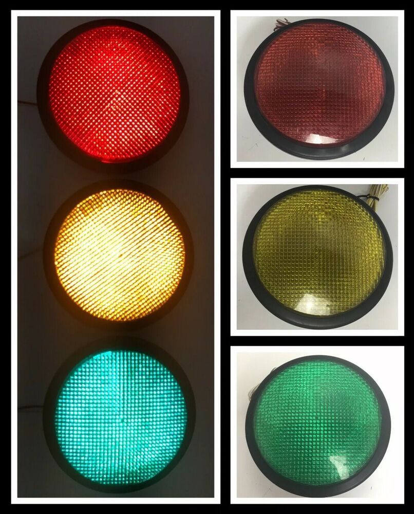 Dialight 8 5 Led Red Green Yellow Traffic Signal Light 7 Lens Traffic Signal Red Green Yellow Red Green