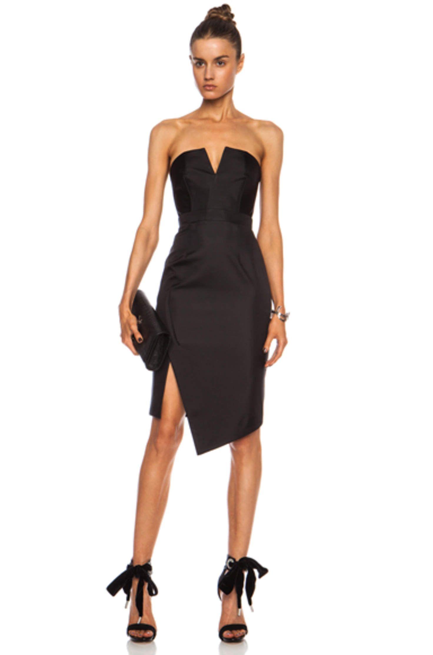 Bonded Silk Strapless Dress In Black Little Black Dress Black Dress Dresses [ 2223 x 1472 Pixel ]