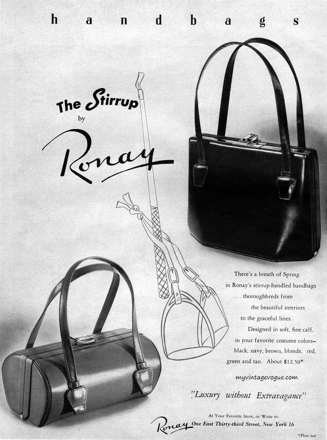 Ronay Handbags 1950