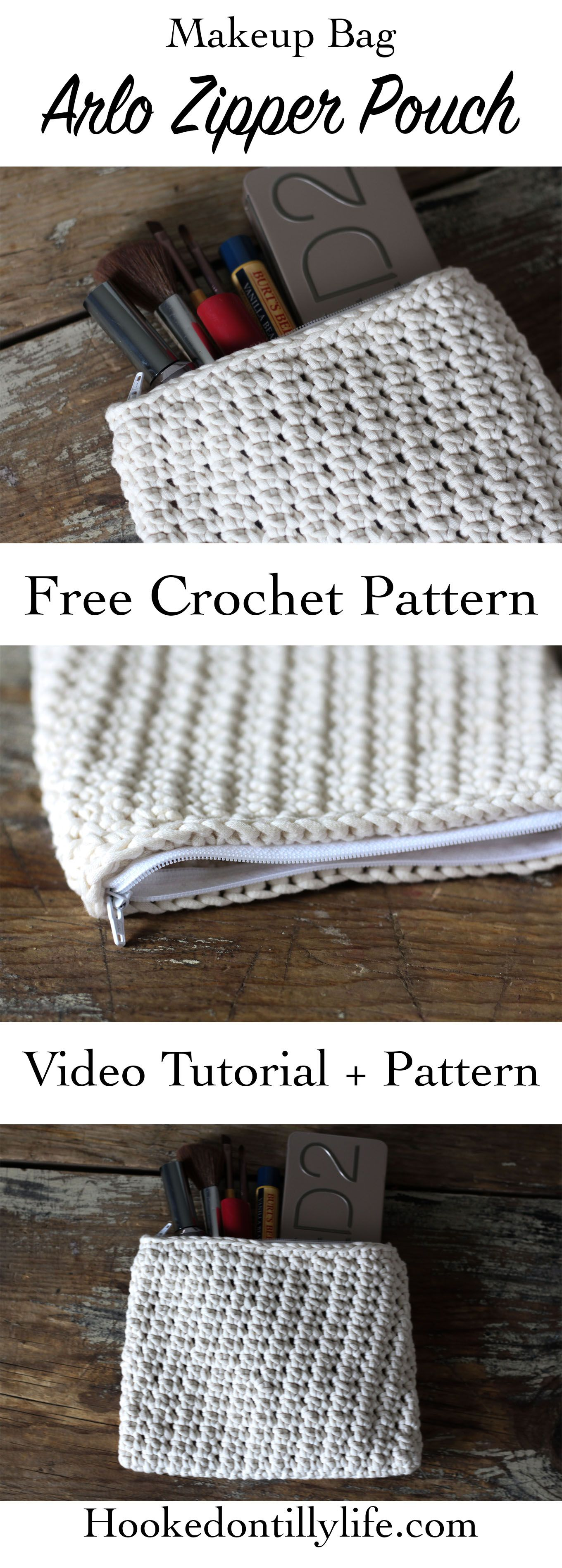 The Arlo Zipper Pouch - Free Crochet Pattern