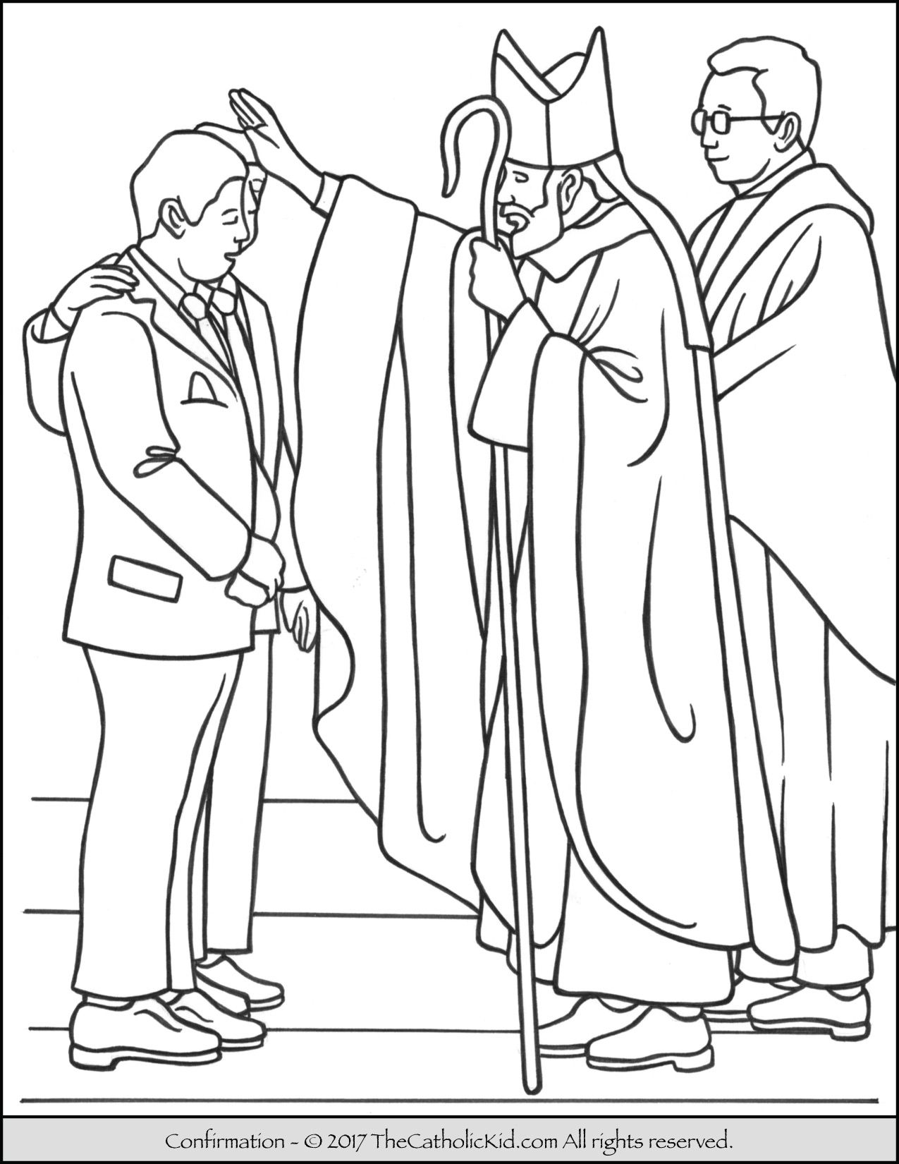 Sacrament of Confirmation Coloring Page. | Sacrament Coloring Pages ...
