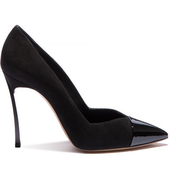 Casadei Blade (485 AUD) ❤ liked on Polyvore featuring shoes, pumps, heels, black, metallic pointed toe pumps, metallic pumps, black patent leather shoes, pointed toe pumps and black heeled shoes