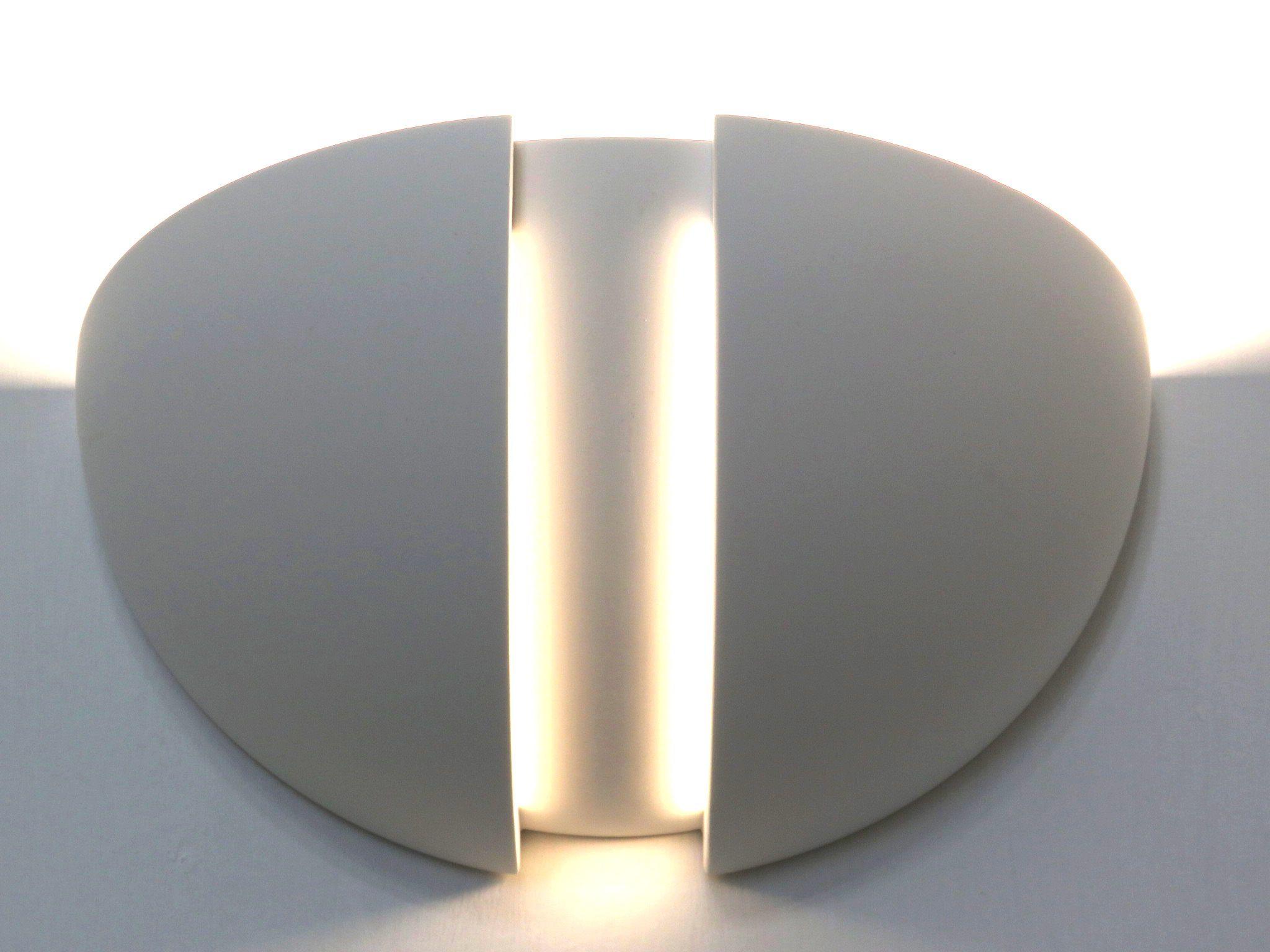 Applique moderno in ceramica a forma di mezzasfera con spiragli di
