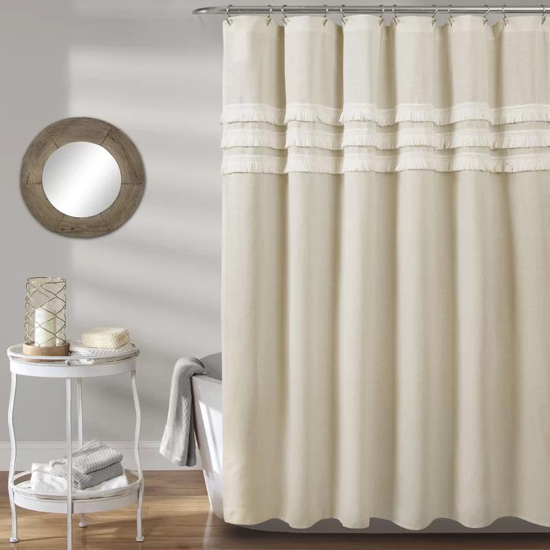 Marzano Linen Single Shower Curtain in 2020 Elegant