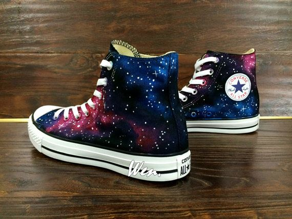 Galaxy Shoes Galaxy Converse Customize Hand Painted Shoes 980e232e1