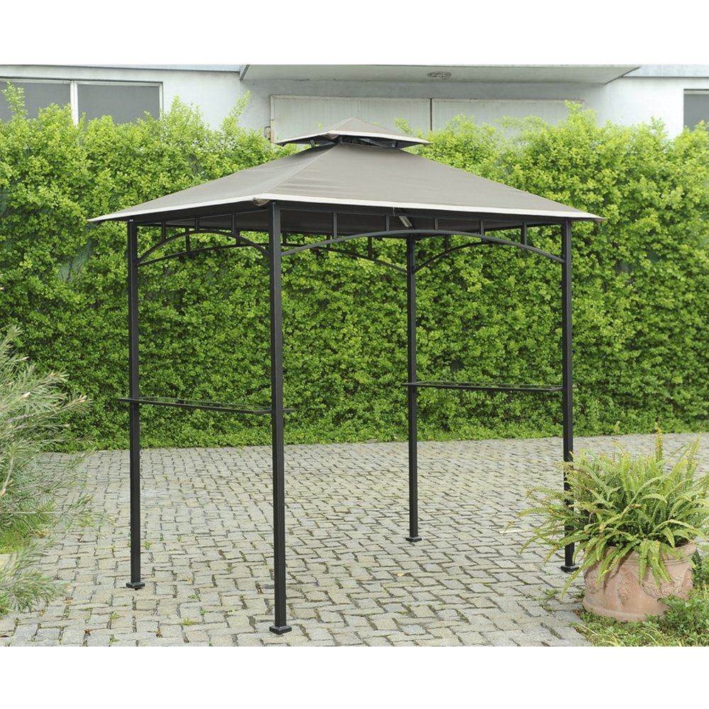 Sunjoy Replacement Canopy Set For Led Grill Gazebo Garden Outdoor