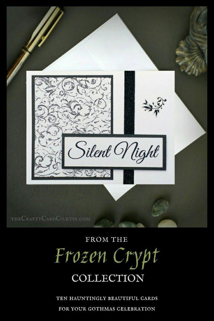 Silent night card Christmas carol card Christmas music card ...