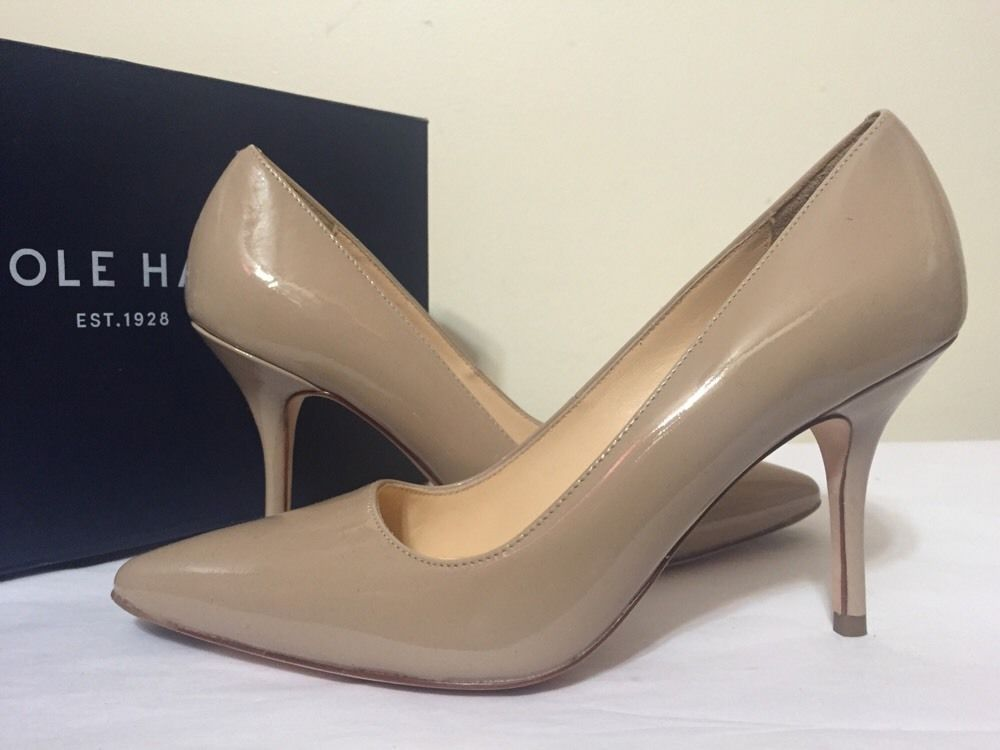 Cole Haan Bradshaw Pump 85 Maple Sugar Patent Leather Women's Heels Pumps  6.5 M #ColeHaan