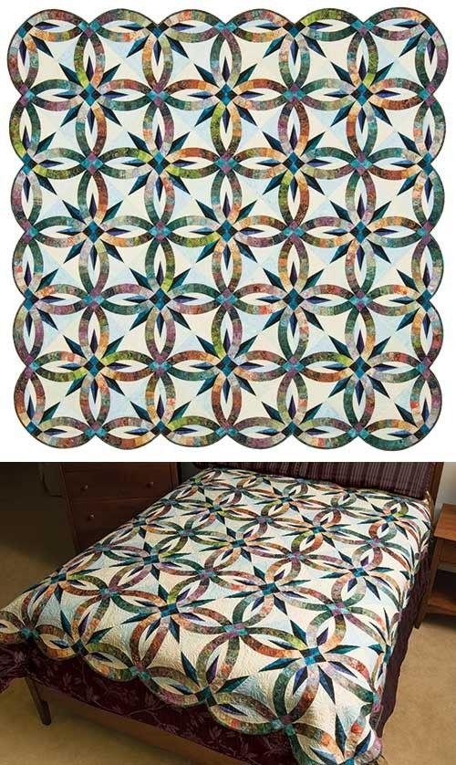 Bali Wedding Star II Quilt Kit Quilts, Batik quilts