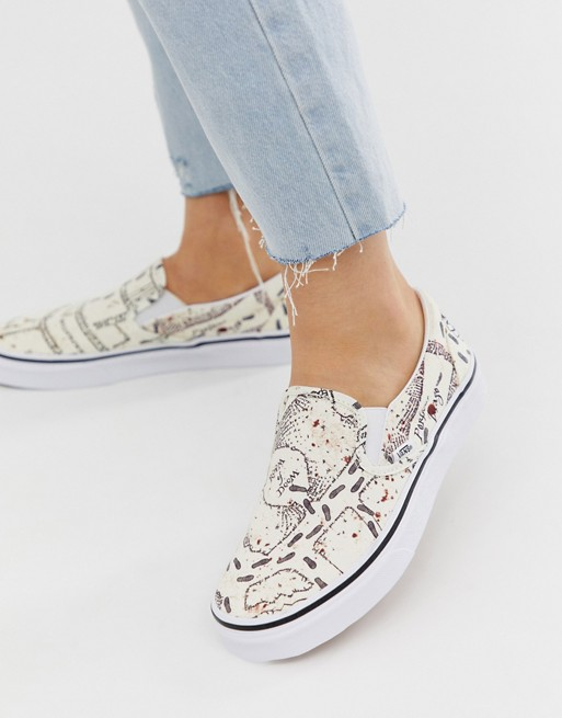 Vans X Harry Potter Marauders Map Slip On trainers in 2020