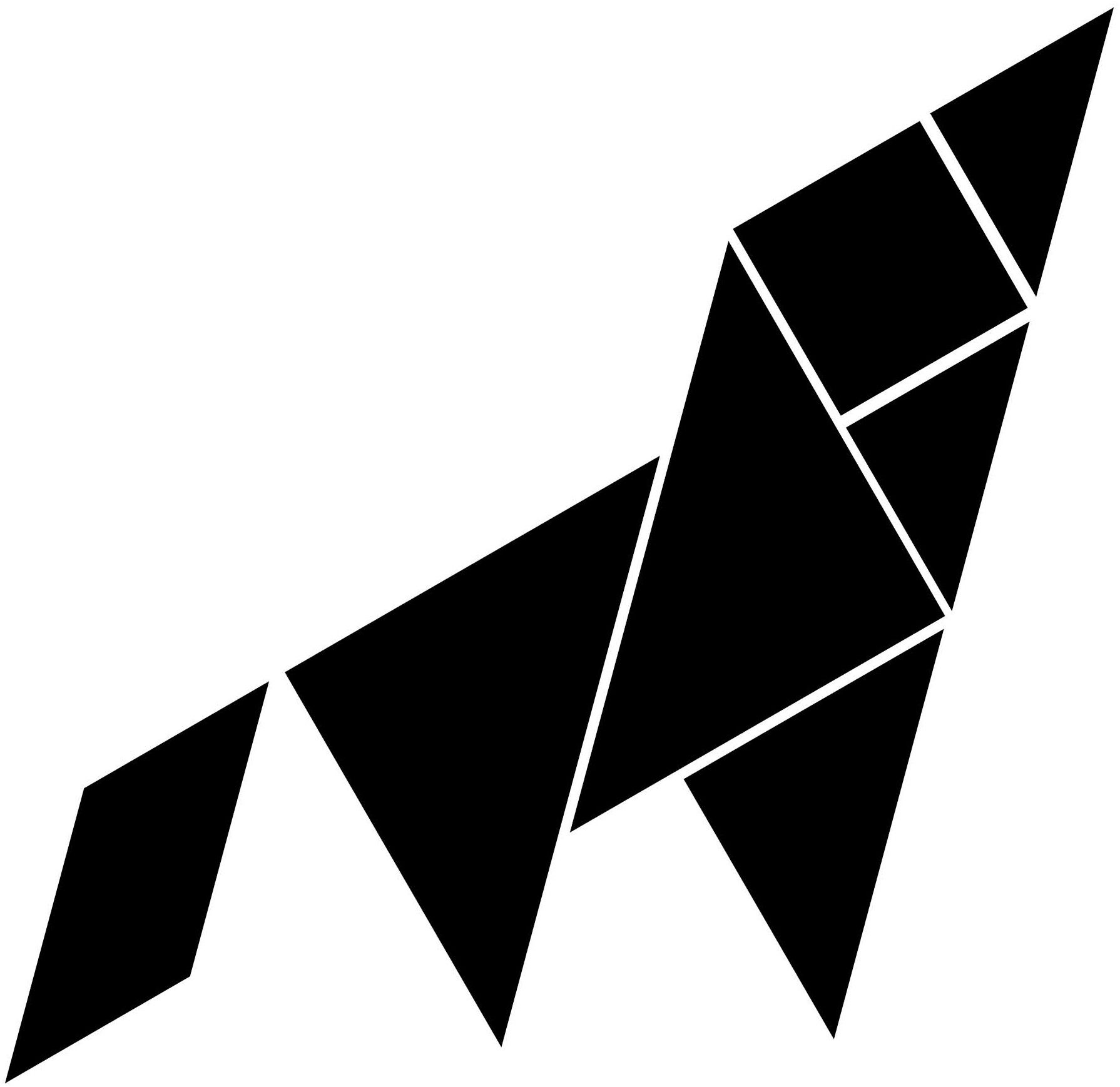 Tangram Fury Image Wolf Howl Howling Wolf