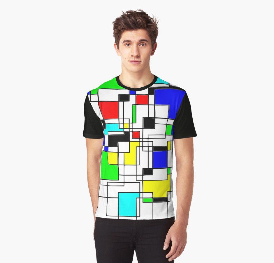Random Squares Graphic T-Shirts