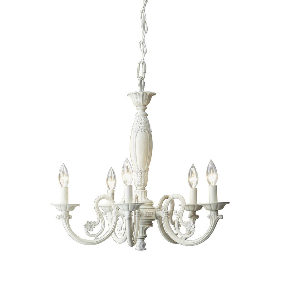 paint red Shop Style Selections 5-Light Antique White Chandelier at  Lowes.com - Paint Red Shop Style Selections 5-Light Antique White Chandelier At