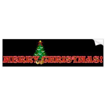 Christmas n bumper sticker