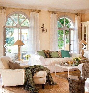 Salon con dos ventanas MOLDURAS Pinterest Ventana, Salón y