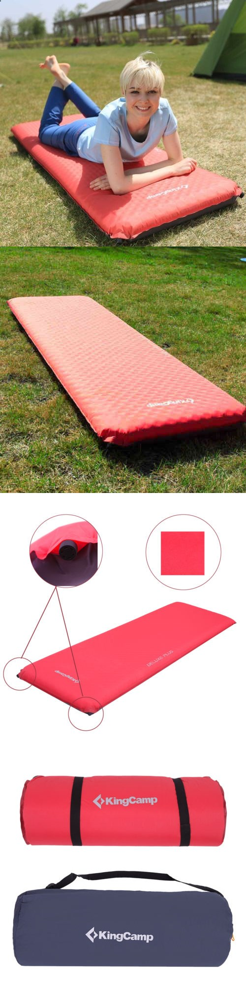 Camping Sleeping Pad - Mattresses and Pads 36114: New 4 Thick  Self-Inflating Camping