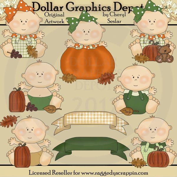 fall babies clip art set created by cheryl seslar great for