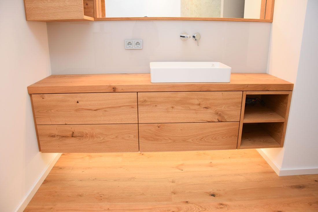 Waschtisch Eiche Astig Waschtisch Unterschrank Waschbecken Badezimmer Unterschrank