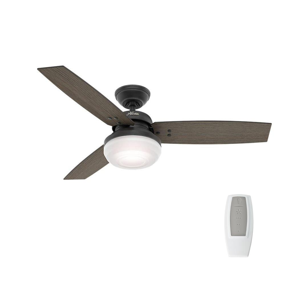 Hunter camino 48 in indoor weathered zinc oak ceiling fan with indoor weathered zinc oak ceiling fan with light and universal remote mozeypictures Images
