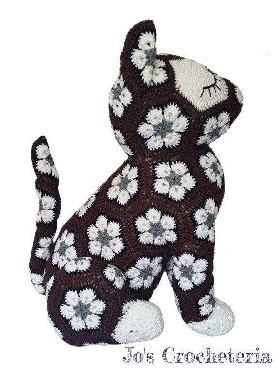 CROCHET PATTER - African Flower Crochet Cat | Häkeln | Pinterest ...