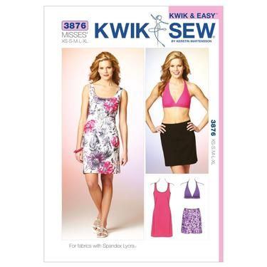 Kwik Sew K3876 Dress, Skirt & Top X Small - X Large | Spotlight ...