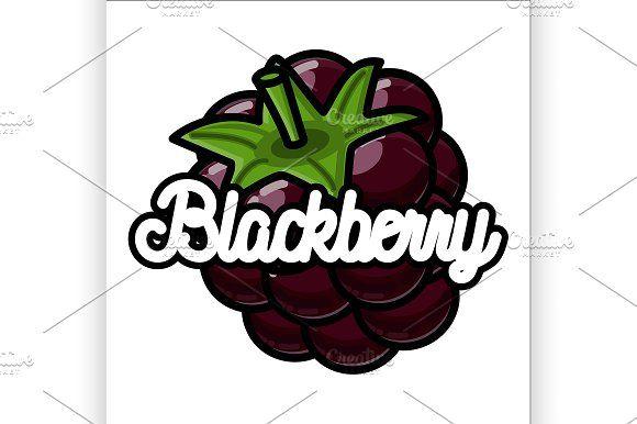 Color vintage fruit emblem by Netkoff on @creativemarket