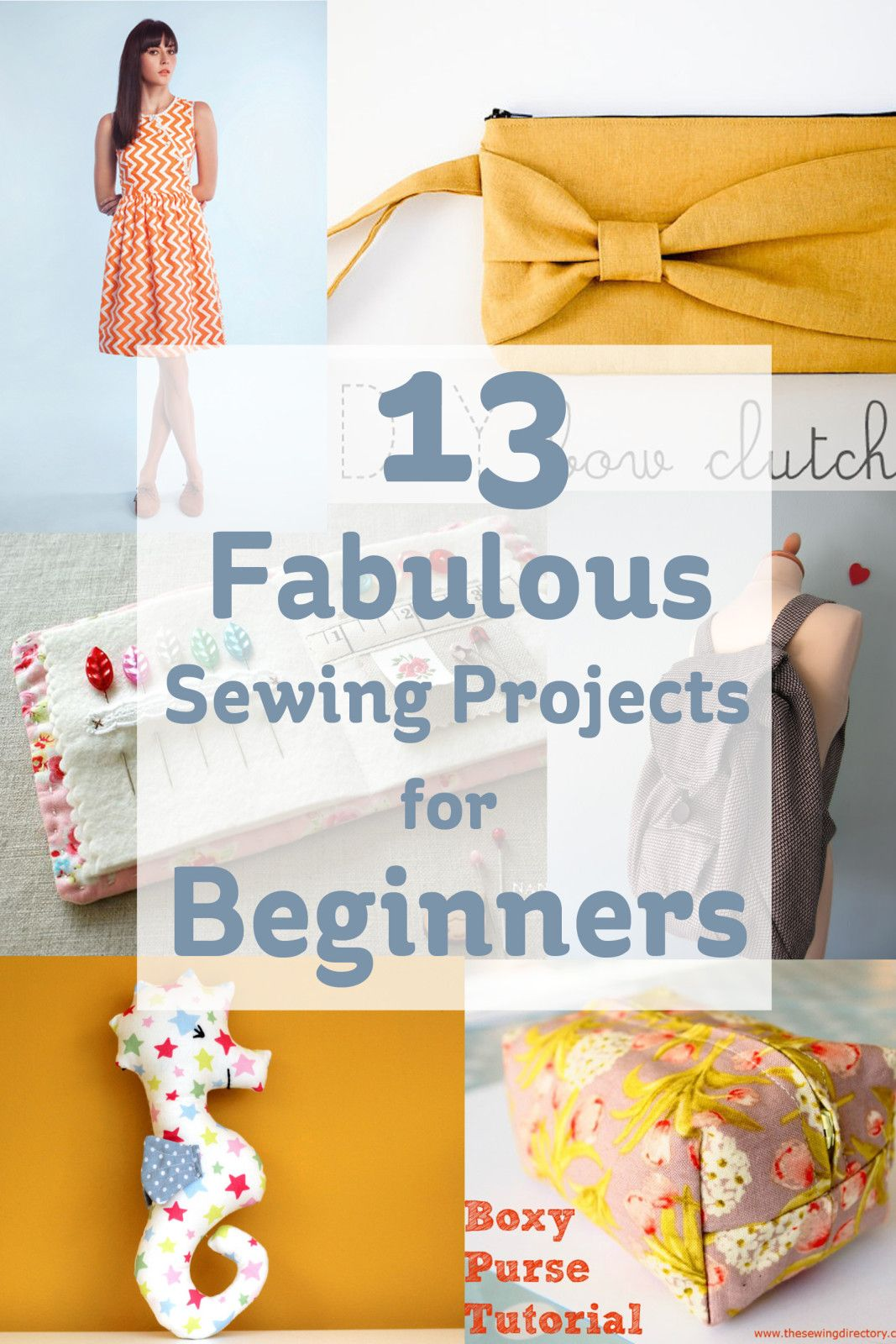 13 Fabulous Sewing Projects for Beginners | Costura, El tiempo y ...