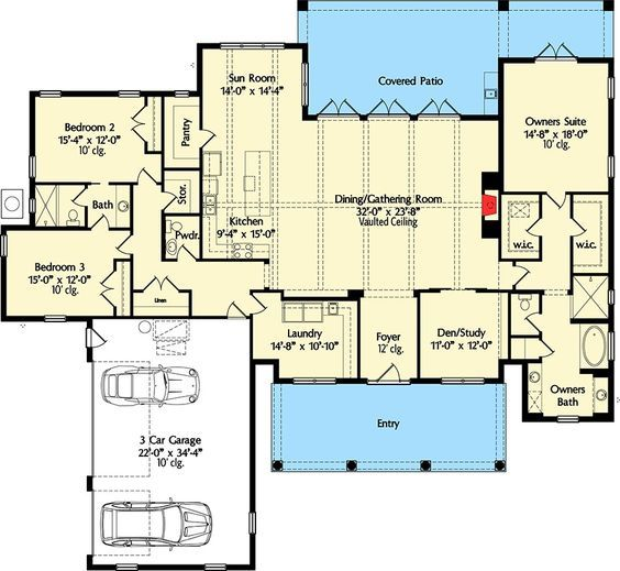 Plan 42837mj High End Southern House Plan Southern House Plan Southern House Plans Floor Plans