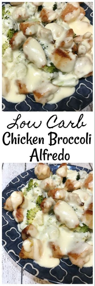 Niedriger Carb Huhn-Brokkoli Alfredo - eins des Rezepts Niedriger Carb Huhn-Brokkoli Alfredo - eins des Rezepts