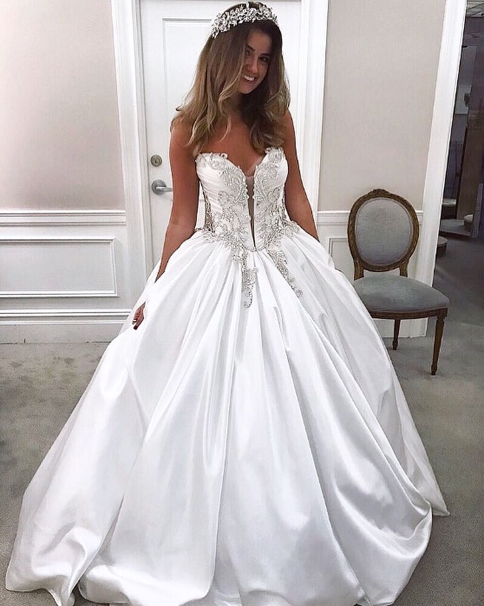 Strapless Silk Ball Gown Wedding Dress By Pnina Tornai Photo Jacmichels Regram Pnina Tornai Wedding Dress Pnina Tornai Ball Gown Ball Gown Wedding Dress