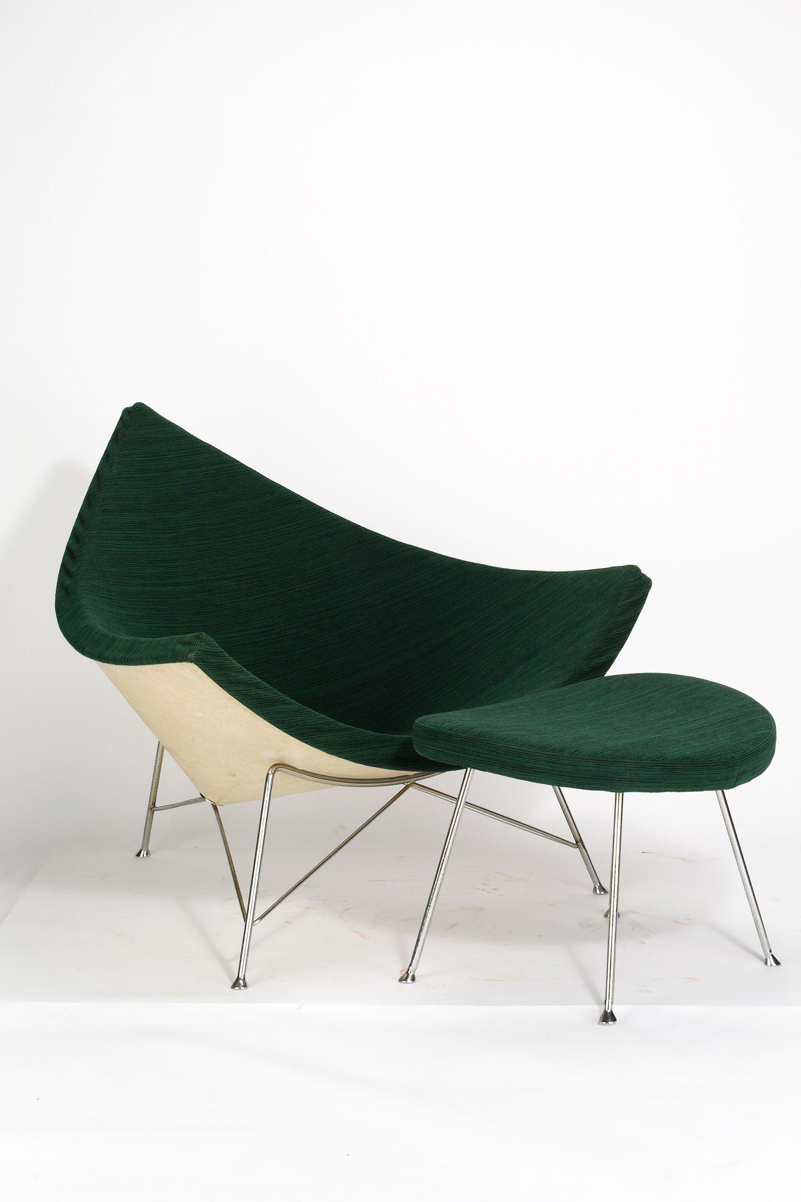 Georg nelson coconut chair ottoman 1955 chairdesign