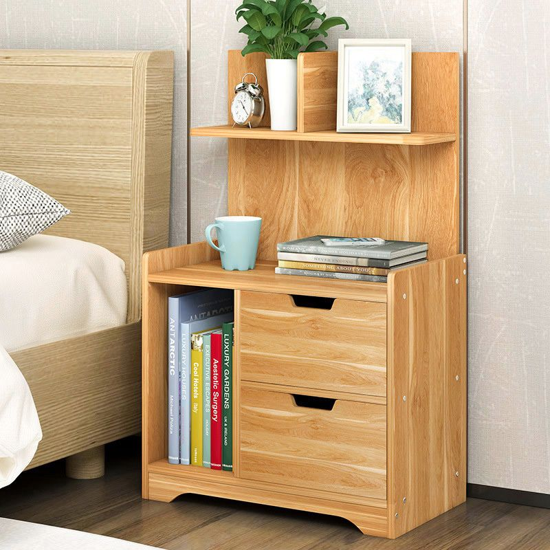 Best Everest Tall Bedside Table With Chest Of Drawers And Shelf 400 x 300