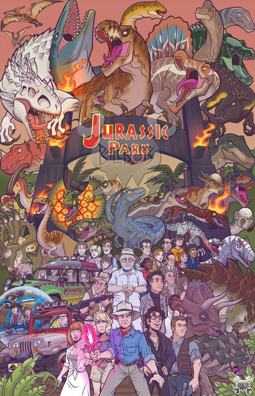 Jurassic Park Poster By Ballbots Arte Com Tema De Dinossauro