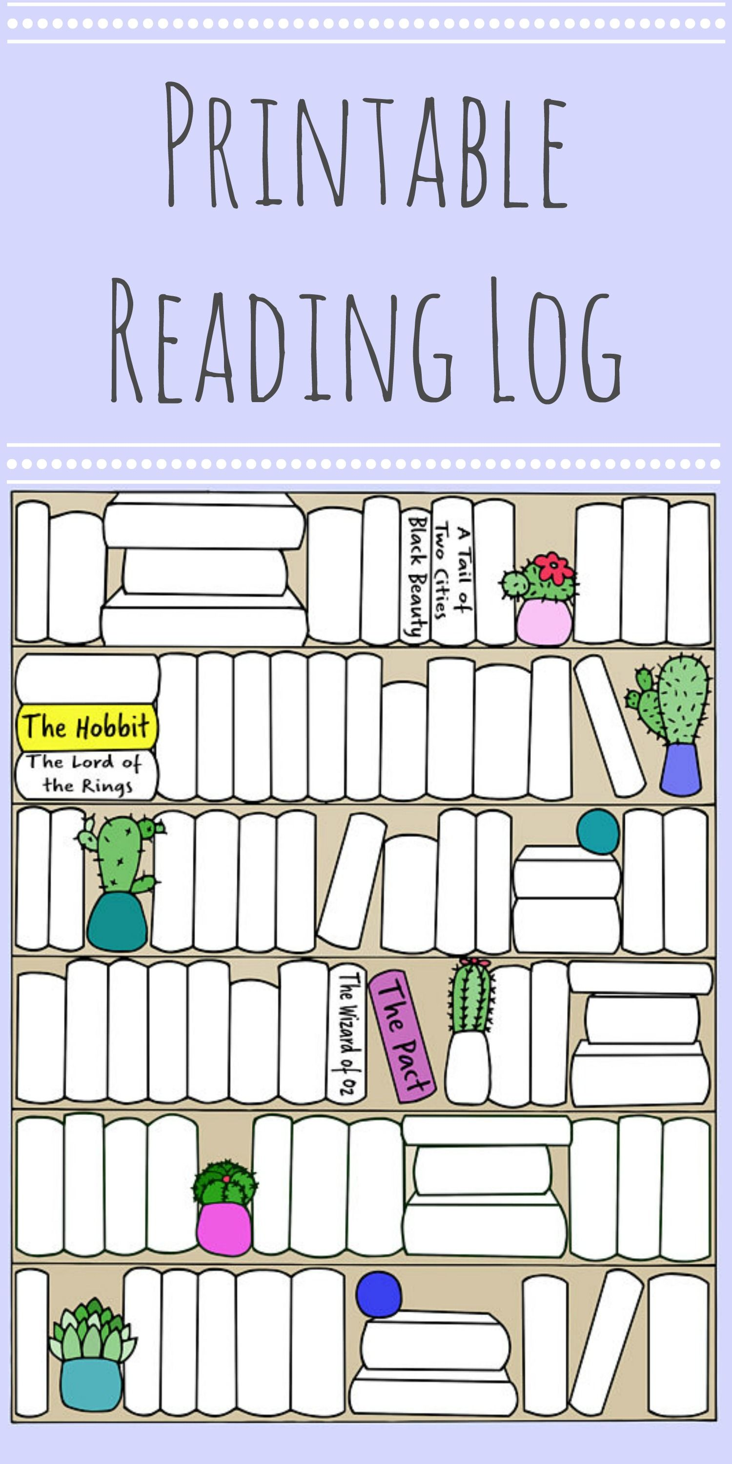 graphic about Books to Read Printable called Printable examining tracker for all of the guides yourself go through