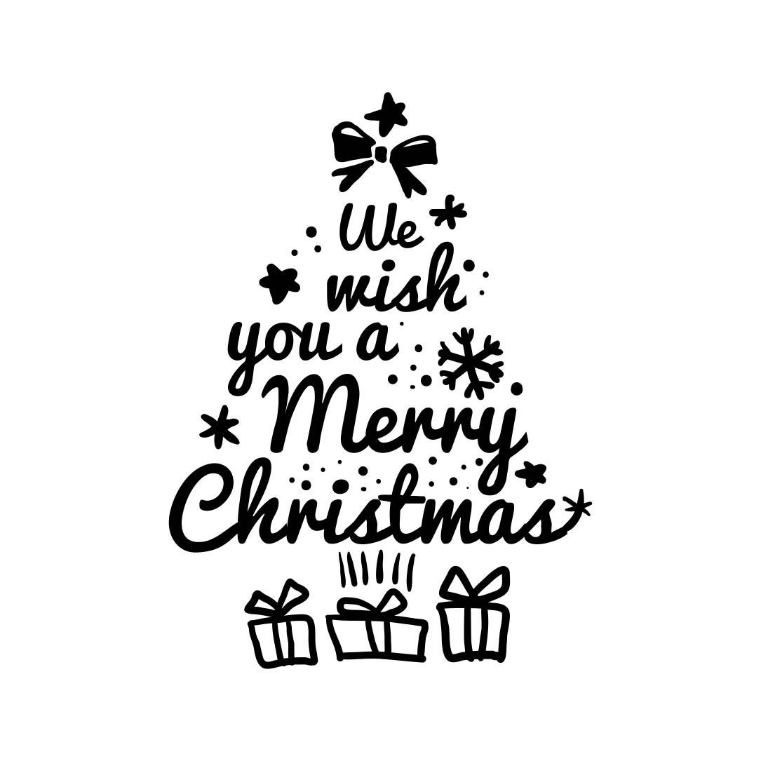 We Wish You A Merry Christmas Graphics Svg Dxf Eps Cdr