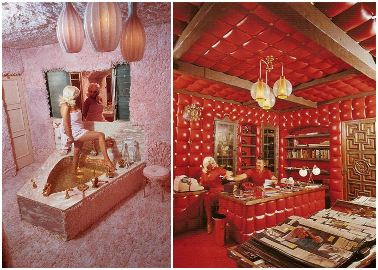 Remembering Jayne Mansfield S Pink Palace Curbed Laclockmenumore Arrownoyes The Colorful Mansion Met An Early And Unfortunate Demise