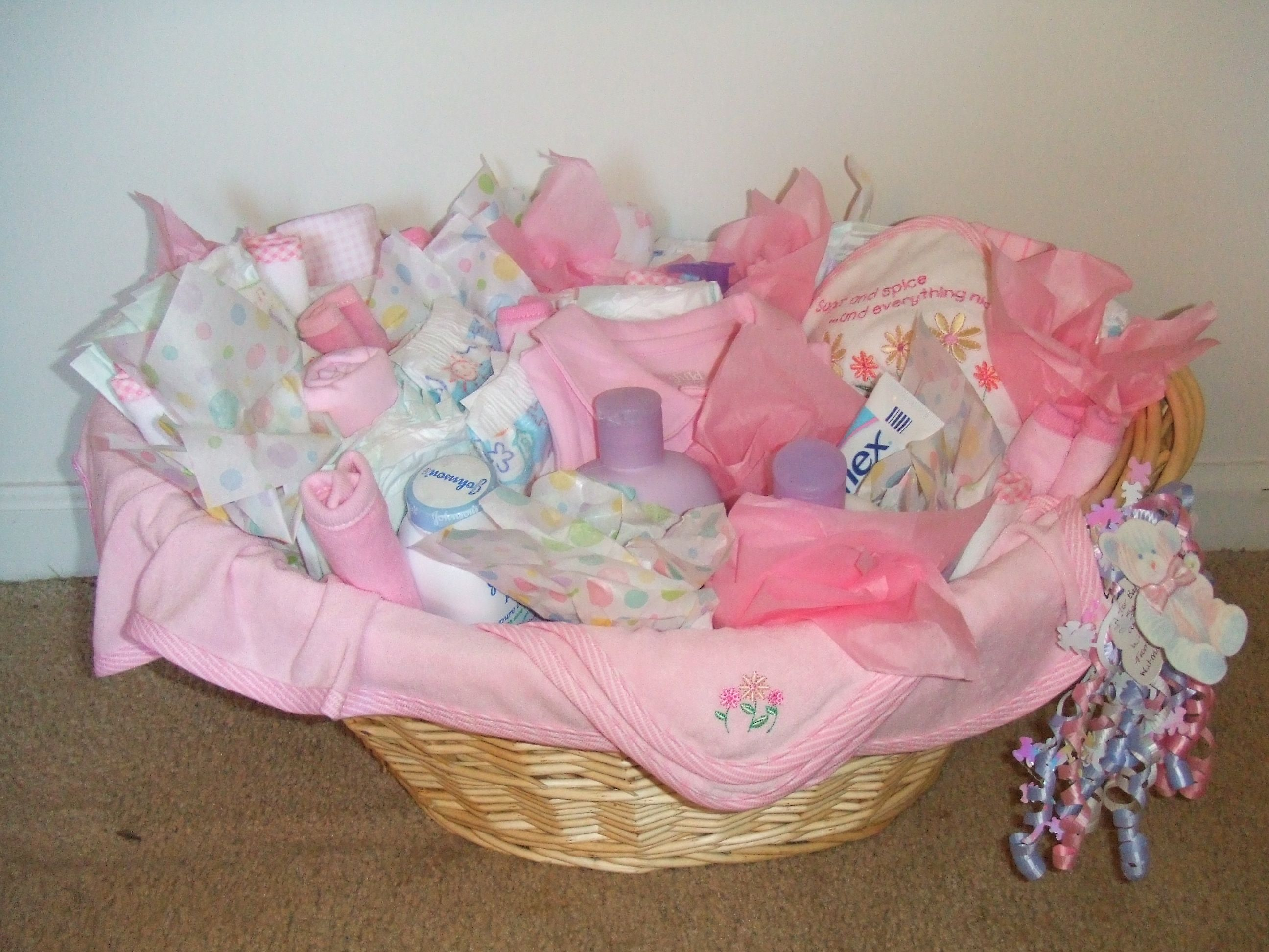 Baby Girl Basket (front view)