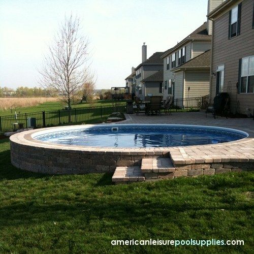 Above ground pool landscaping american leisure pool - Above ground swimming pool rental ...