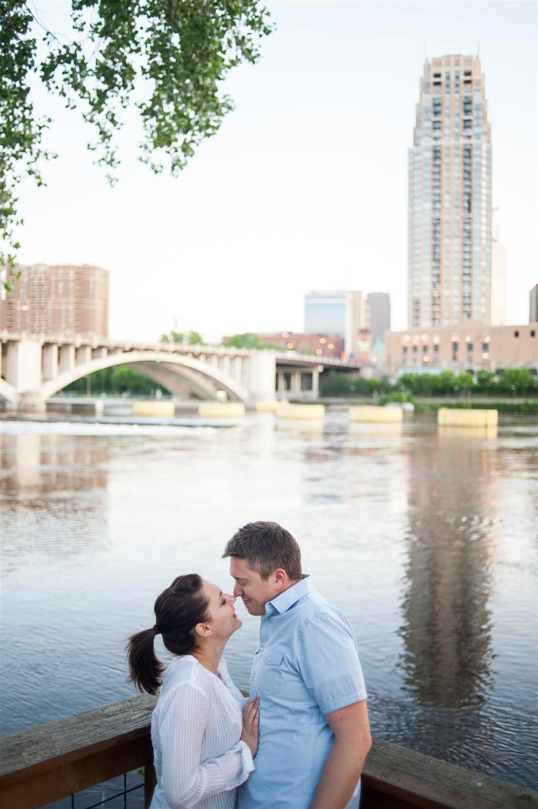 Fun engagement session with Adam & Darcy on Nicollet Island, Minneapolis, MN - spring 2012 { WestonAlan Photography }