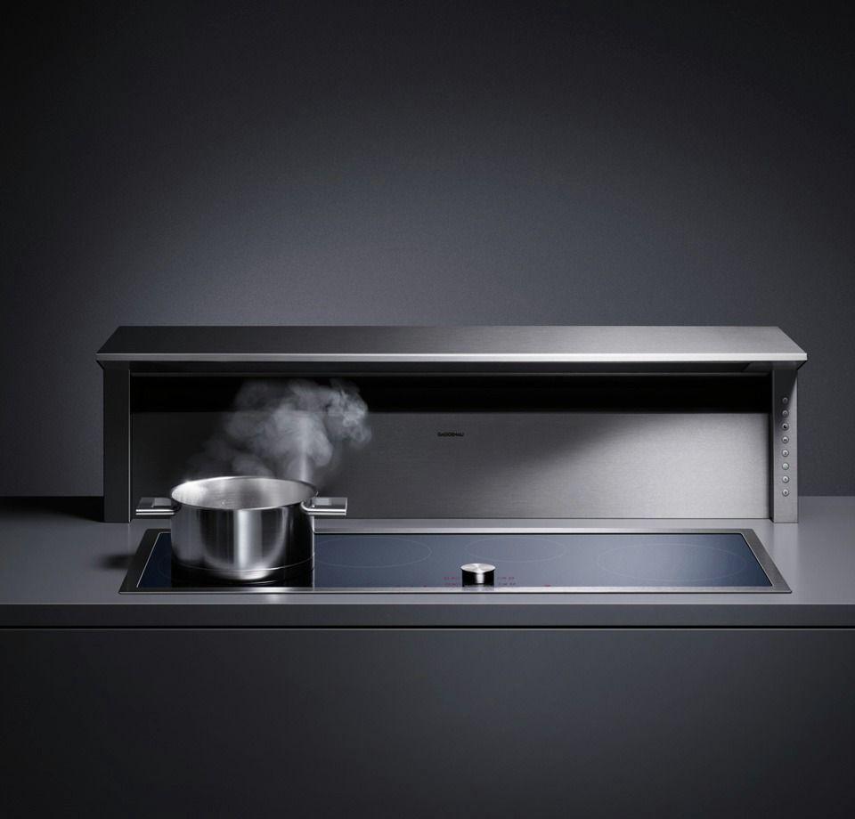 Mini Modern Kitchen Miele Gaggenau: Gaggenau AT400 Ventilator. It Combines Ventilation