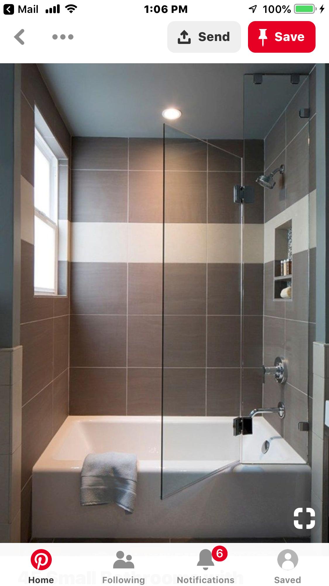 Pin By Julie Ann On East Walkout Bath Small Bathtub Small Bathroom Guest Bathroom Design