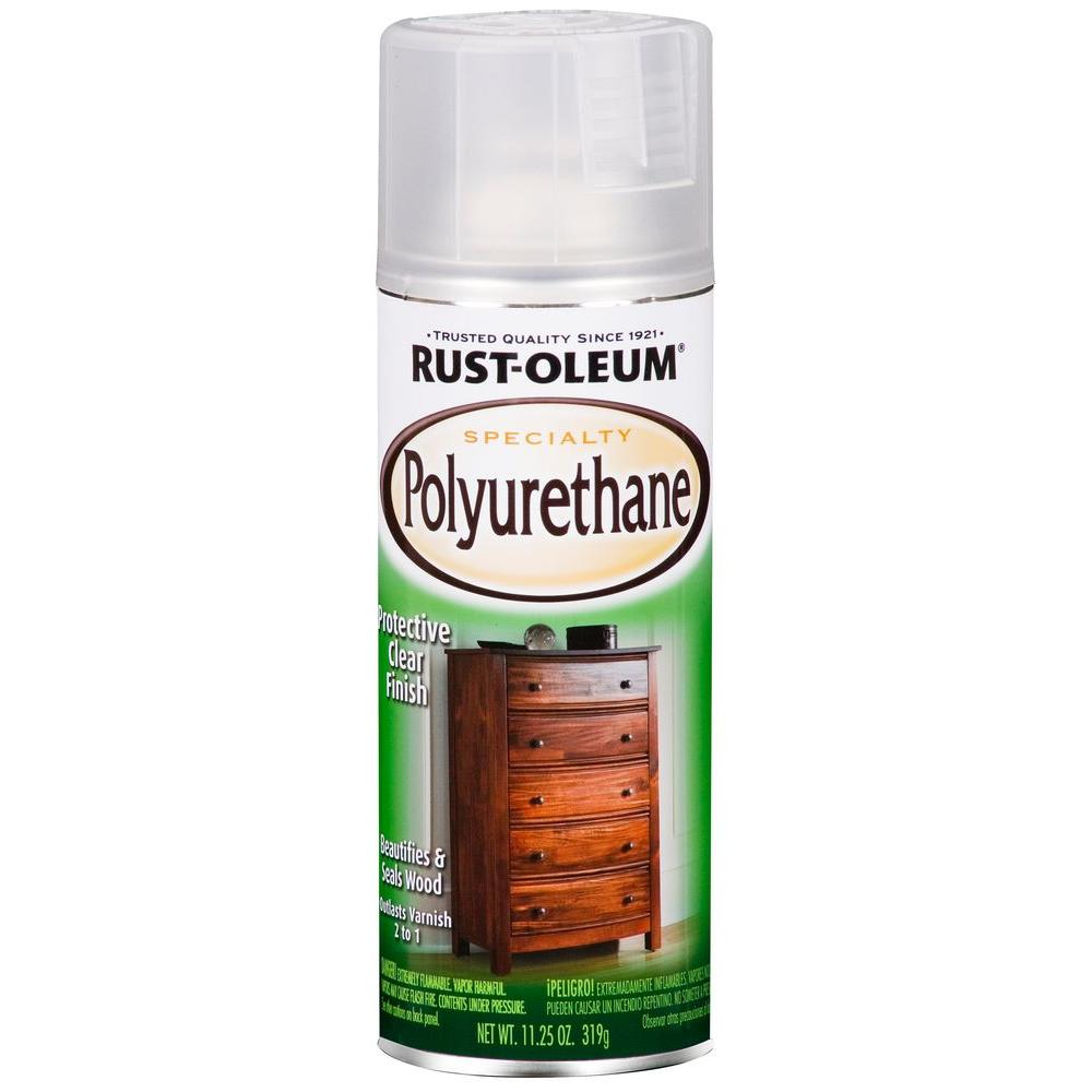 Rust Oleum Specialty 11 25 Oz Semi Gloss Clear Polyurethane Spray 6 Pack 7871830 Rust Paint Stain Home Depot